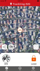 App EVO mappa locked