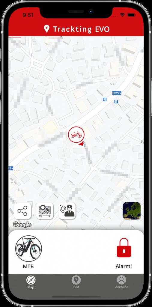 App EVO - map